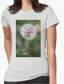 Dandelion Seed Head Womens Fitted T-Shirt