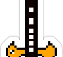Guitar - Pixels Sticker