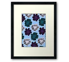Floral Stencil Framed Print