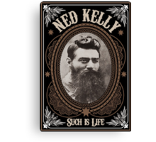 Ned Kelly - Such is Life Design in brown Canvas Print