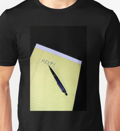 Notepad Pen Help Unisex T-Shirt