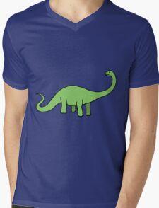 Happy Diplodocus Mens V-Neck T-Shirt