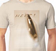 Pen Help Sepia Unisex T-Shirt