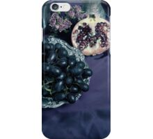Still Life With Pomegranate And Dark Grapes iPhone Case/Skin