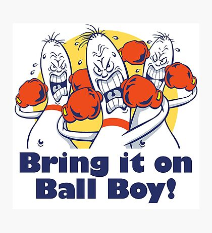 Bowling Alley Ball Boys  Photographic Print