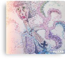 Octopus Lady Canvas Print