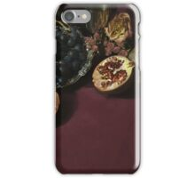 Still life with fruits and metal pitcher iPhone Case/Skin