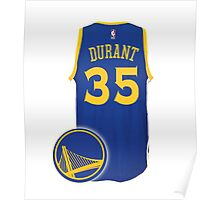 Durant, a Warriors ! Poster