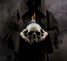 Burning skull by JBlaminsky