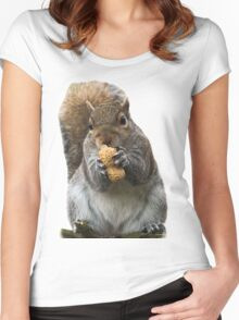 The very cutest fluffy Squirrel  Women's Fitted Scoop T-Shirt