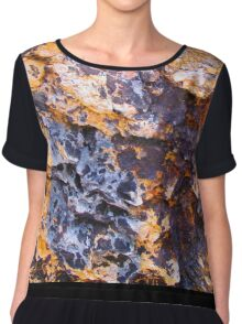 colored rock wall Chiffon Top