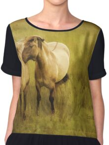 Photo art, Highland ponies Chiffon Top