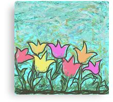 Happy Tulips Canvas Print