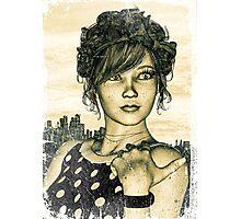 Retro Girl Photographic Print