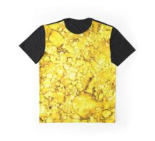 Yellow Abstract Design Graphic T-Shirt