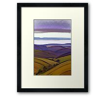 IPad Art - From the lookout Framed Print