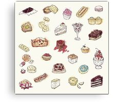 Cup Cakes & Bakery Canvas Print