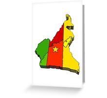 Cameroon Map With Flag of Cameroon Greeting Card