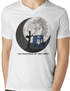 The Persistence of Timey Wimey Grunge Mens V-Neck T-Shirt
