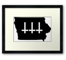 Satanic Iowa Framed Print