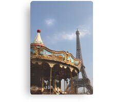 Paris, Merry-go-round... Canvas Print