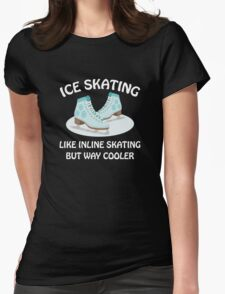 Ice Skating Womens Fitted T-Shirt