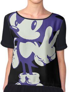 Minimalist Sonic Chiffon Top