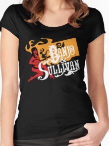 Banjo & Sullivan gold, white, red Women's Fitted Scoop T-Shirt