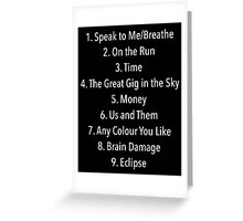 The Dark Side of the Moon - Pink Floyd Greeting Card