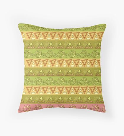 Tribal geometric striped pattern Throw Pillow