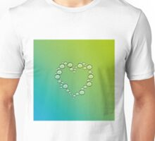 heart of water drops Unisex T-Shirt