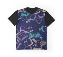 Booky Pattern Graphic T-Shirt