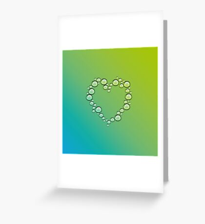 heart of water drops Greeting Card