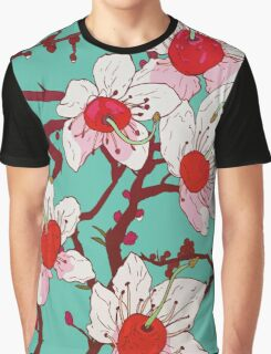 Cherry Blossom Tree Graphic T-Shirt