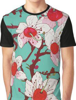 Cherry Blossom Tree Graphic T-Shirt