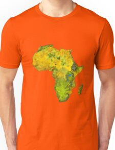 Physical African Continent Unisex T-Shirt