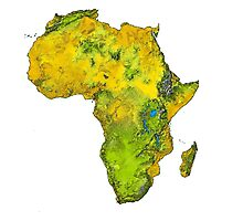 Physical African Continent Photographic Print