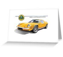 Lotus Europa Vintage British Classic Car Greeting Card