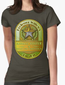 Prof. Willow's Animal Rescue & Meat Pie Emporium (Instinct) Womens Fitted T-Shirt