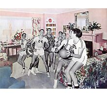 Mom Said No Basketball in the House Photographic Print