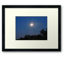 The Moon at 5 a.m. Framed Print