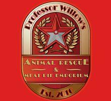 Prof. Willow's Animal Rescue & Meat Pie Emporium (Valor) Unisex T-Shirt