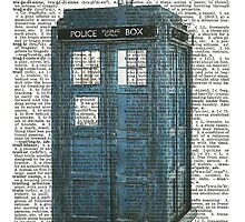 Blue Tardis In Dictionary by fiveminutes