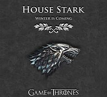 House Stark Game Of Thrones by fiveminutes