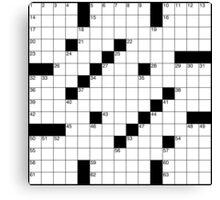 Crossword Canvas Print