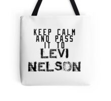 Keep Calm And Pass It To Levi Nelson ( Sheffield Steelers ) Tote Bag