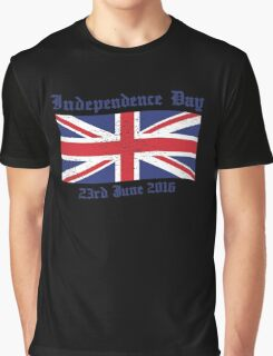 UK Independence Day 23 June 2016 Brexit New Graphic T-Shirt