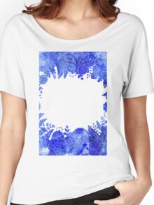 Blue Floral Pattern 04 Women's Relaxed Fit T-Shirt