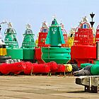 Buoys for the Waddenzee by Arie Koene