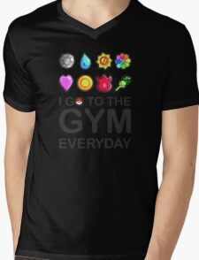 I go to the GYM everyday Mens V-Neck T-Shirt